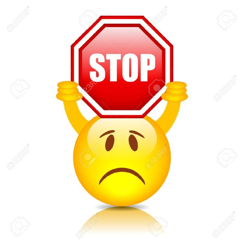 19397645-Smiley-with-stop-sign-vector-illustration-Stock-Vector
